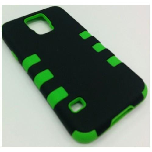 Samsung Galaxy S5 Dual Layer Stripe Case - Green