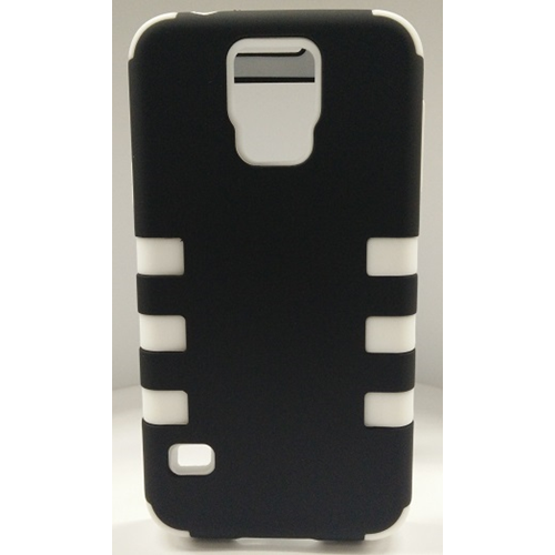 Samsung Galaxy S5 Dual Layer Stripe Case - White