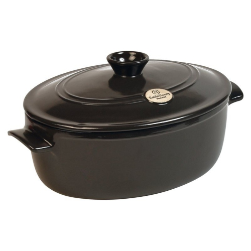 Emile Henry Oval French Oven 4.7 L - Charcoal : Dutch Ovens ...