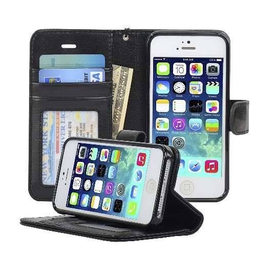 navor iphone life protective deluxe book style folio wallet leathernavor iphone life protective deluxe book style folio wallet leather case for iphone 5 \u0026 iphone 5s black online only
