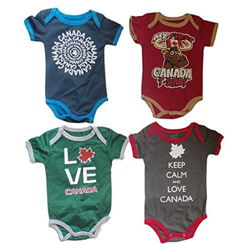 Canada Print Baby Onesie 3 6 Months Boys 4 Pack Baby Sleepers