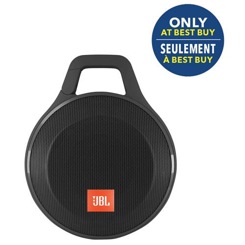 Haut-parleur ss fil Bluetooth antiéclaboussure Clip+, écouteurs bouton E10 JBL-Noir-Exclusivité BBY