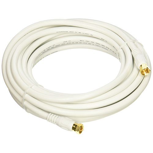 WELLSON 15 FT RG59 WHITE COAXIAL CABLE - 6 PACK