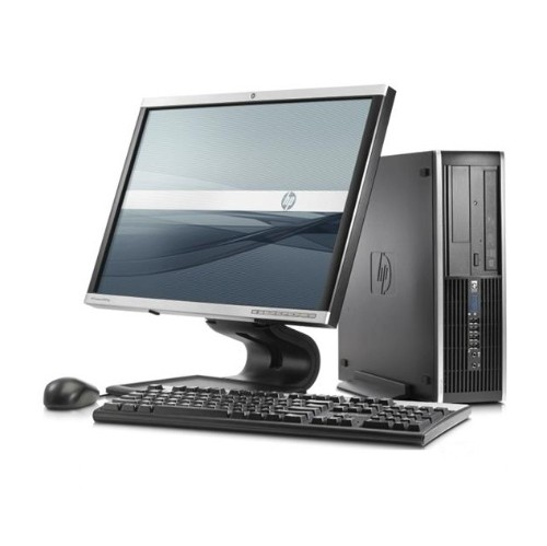 "HP PC de bureau Francais 8200, i5 5000 3.2 G CPU, 4 Go de RAM, 500Go de disque dur, ecran 19"" LA1951G, Windows 10 Francais, Refurbished"