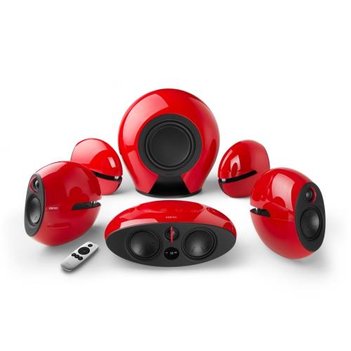 Edifier e255 Système de cinéma maison 5.1 Surround Sound - Haut-parleurs arrière et caisson de basses sans fil - Entrée optique - Dolby / DTS