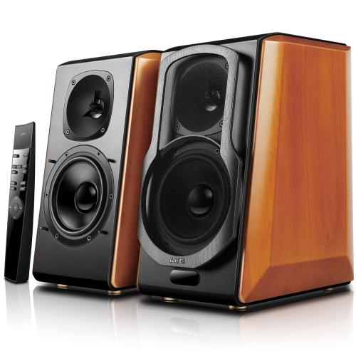Edifier S2000pro Haut-parleurs amplifiés de bibliothèque Bluetooth - entrée active de moniteur de studio de Near-Field sans fil et entrée optique