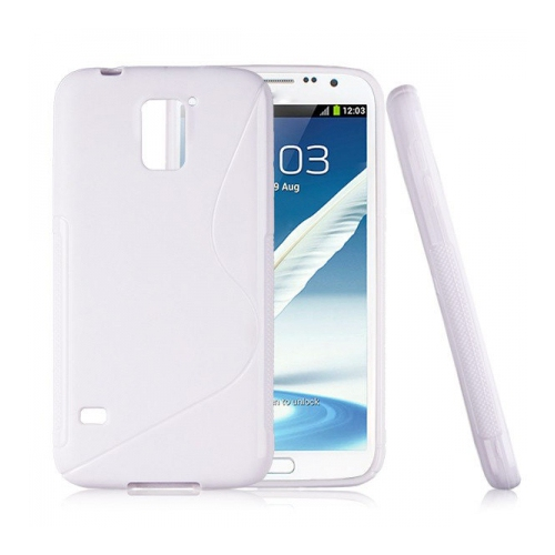 Frosted S Curve TPU Case for Samsung Galaxy S5 I9600 - White