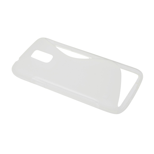 Frosted S Curve TPU Case for Samsung Galaxy S5 I9600 - Clear