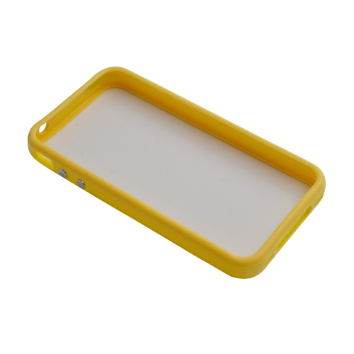 TPU Bumper Frame Silicone Skin Case Cover for iPhone 4 / 4S - Yellow