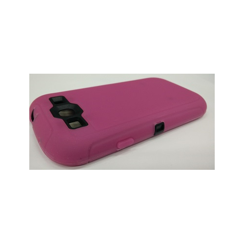 Samsung galaxy S3 i9300 Super protective Case Dual Layer with Screen Protector - Hot Pink