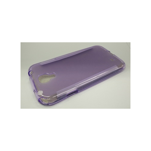 Samsung Galaxy S4 Transparent Front Door Cover Case - Purple