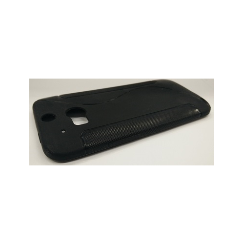 HTC One M8 S-Shape Gel Case - Black