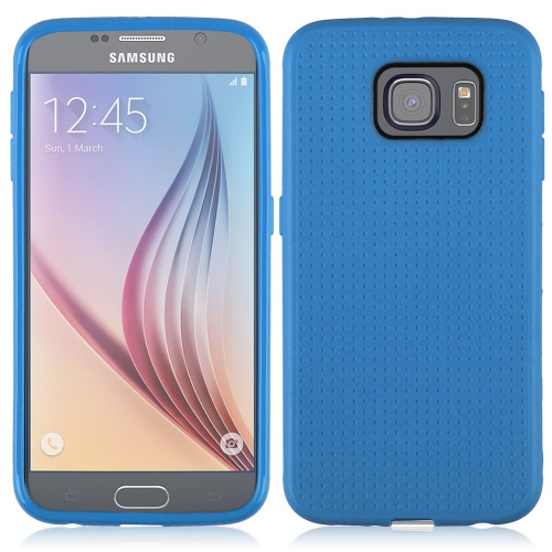 Generic Fitted Soft Shell Case for Samsung Galaxy S6 - Blue