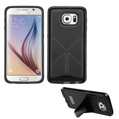 Samsung Galaxy S6 Fold Kick-Stand Case - Black