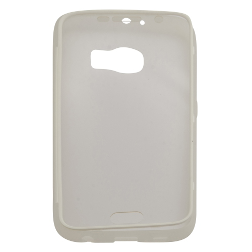 Samsung Galaxy S6 TPU Gel Case With Transparent Front Door - White