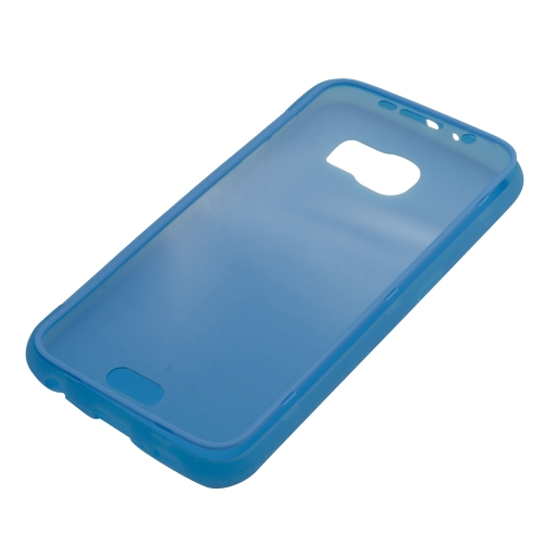 Samsung Galaxy S6 TPU Gel Case With Transparent Front Door - Blue