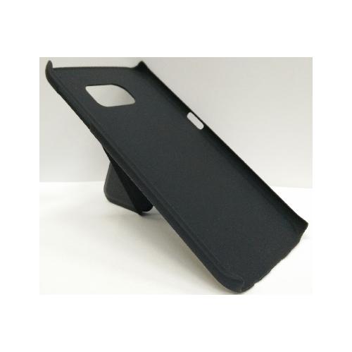 Samsung Galaxy S6 Edge Hard Shell Kick-Stand Case - Black