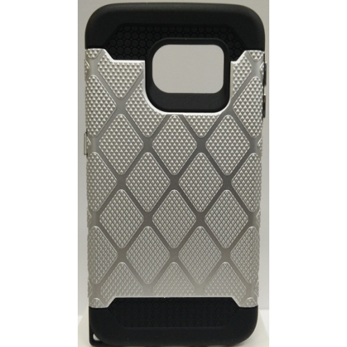 Samsung Galaxy S6 Edge Spotted Diamond Case - Silver