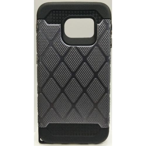 Samsung Galaxy S6 Edge Spotted Diamond Case - Grey