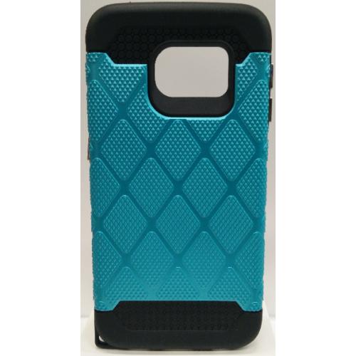 Étui à pois style diamants pour Samsung Galaxy S6 Edge - Aqua