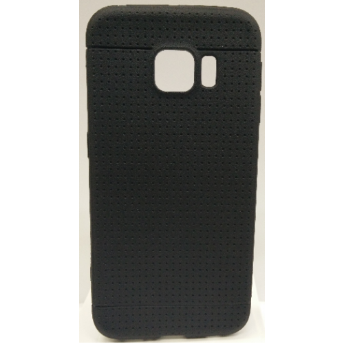 Samsung Galaxy S6 Edge Dotted TPU Case - Black