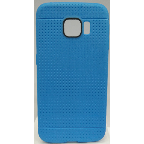 Samsung Galaxy S6 Edge Dotted TPU Case - Blue