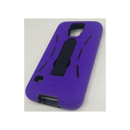 Samsung Galaxy S5 Rubber Kick-stand Case - Purple