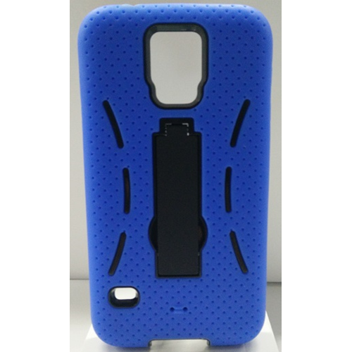 Samsung Galaxy S5 Rubber Kick-stand Case - Blue