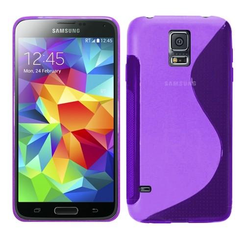 Coque en forme de S pour Samsung Galaxy S5 - Violet