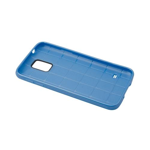 Coque à pois pour Samsung Galaxy S5 - Bleu