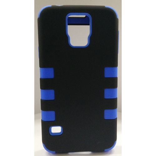 Samsung Galaxy S5 Dual Layer Stripe Case - Blue