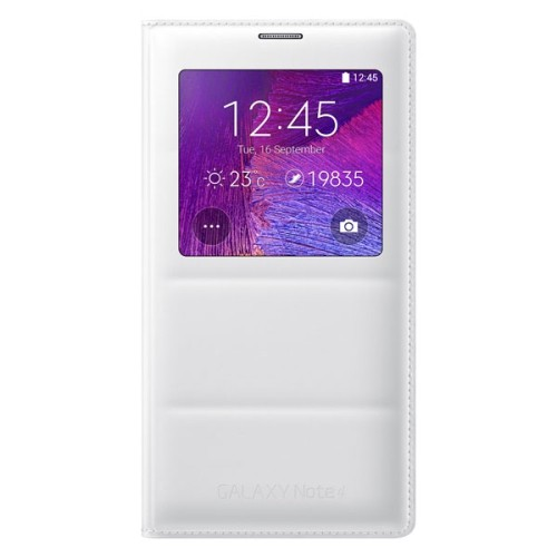 Samsung Flip Cover Case for Galaxy Note 4 - White