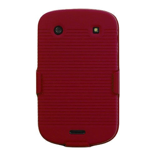 Holster Hybrid Protector Case Combo For BLACKBERRY 9900 - Red