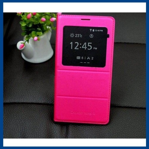 Samsung Flip Cover Case for Galaxy Note 4 - Hot Pink