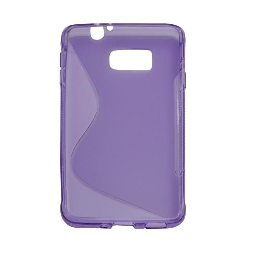 S Curve Gel Cover Case for Samsung Galaxy Alpha (G850F) - Purple