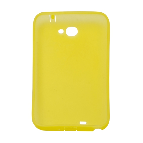 Samsung Galaxy Note 2 N7100 Sillicon Gel Transparent Case - Yellow
