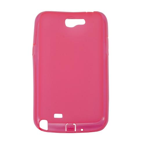 Étui transparent en gel de silicone pour Samsung Galaxy Note 2 N7100 - Rose foncé