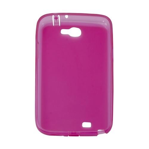 Samsung Galaxy Note 2 N7100 Sillicon Gel Transparent Case - Purple