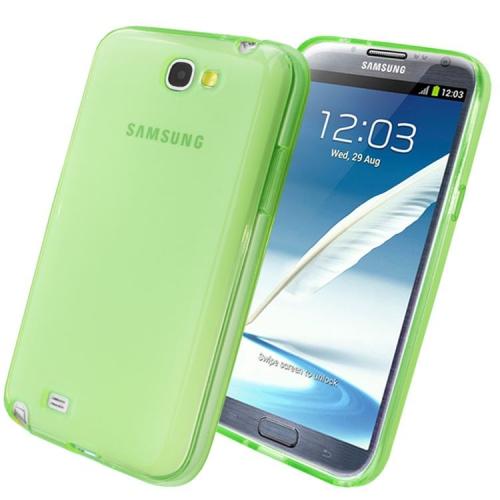 Samsung Galaxy Note 2 N7100 Sillicon Gel Transparent Case - Green