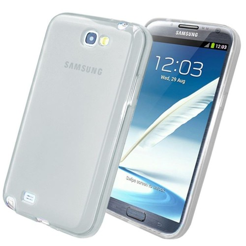 Samsung Galaxy Note 2 N7100 Sillicon Gel Transparent Case - White