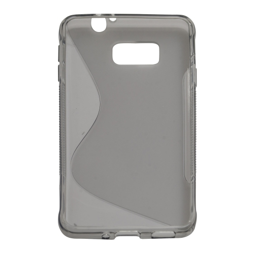 S Curve Gel Cover Case for Samsung Galaxy Alpha (G850F) - Grey