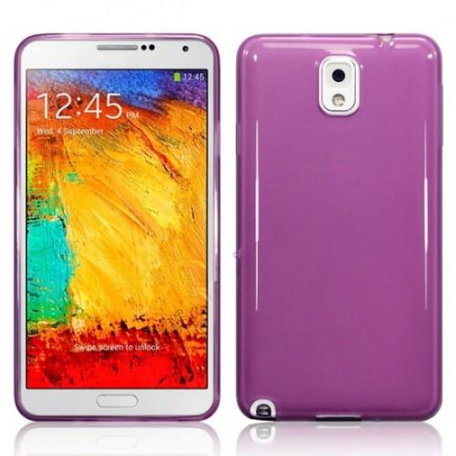 Soft TPU Gel Back Case Cover for Samsung Galaxy Note 3 III - Purple