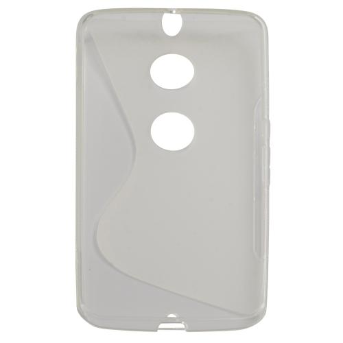 huge discount f775c 8335f S Line Rubber Gel Skin Case Cover for Motorola Nexus 6 - Transparent