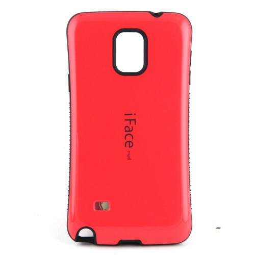 Esource Parts Fitted Hard Shell Case for Samsung Galaxy Note 4 - Red