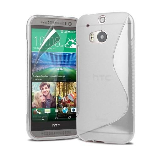 HTC One M8 Soft Gel S-line Stylish Case - Smokey Grey