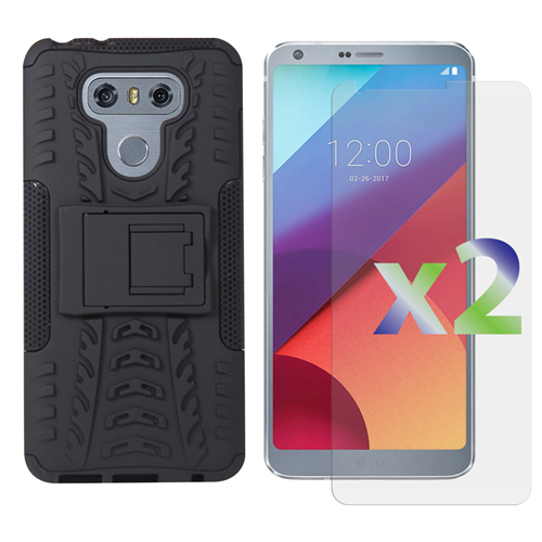 Exian Fitted Soft Shell Case for LG G6 - Black