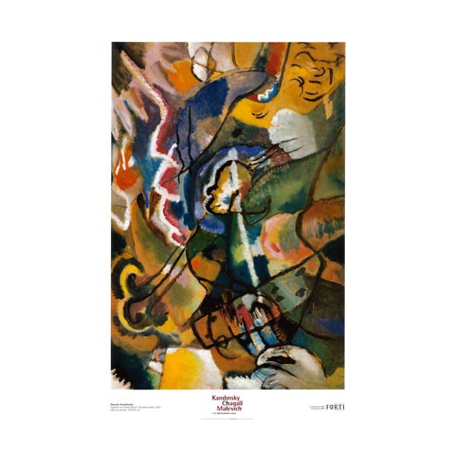 Wassily Kandinsky Painting With White Border 35 5 X 23 5 Abstract Art Print