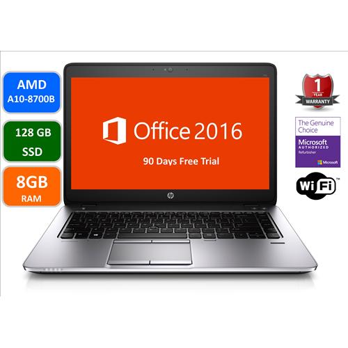 "HP Elitebook 745G3, AMD A10-8700B, 8GB Memory, 128GB SSD, 14"" Screen , Windows 10 Pro , 1Year warranty-Refurbished"