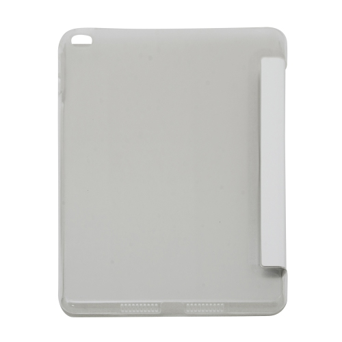 Generic Smart Folding Cover Stand Case for Apple iPad Mini 4 4th Gen With Back Cover - White
