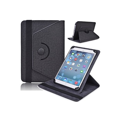 Étui rotatif réglable universel pour tablette de 9 pouces - Noir